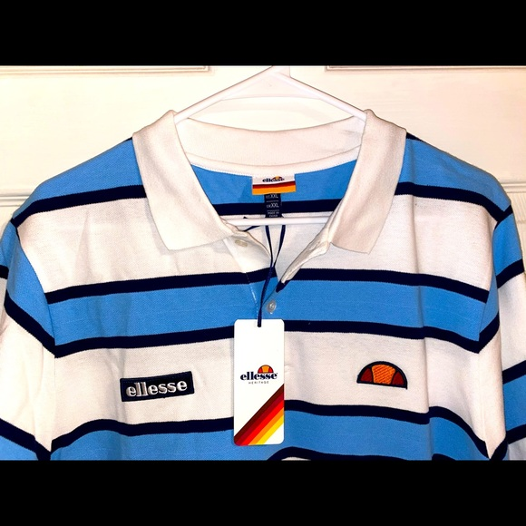 ellesse Striped Rugby Polo Youth XL Shirt